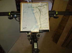 Porte cartes pour vélo