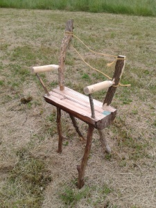 chaise ''rustique'' en tenon mortaise