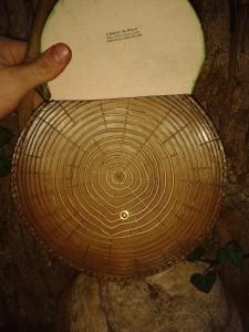Sac cuir artisanal modèle ''arbre'' ouvert