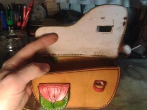 sac cuir modèle ''coclicorne'' vue ouvert