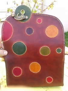 Sac cuir artisanal ''Sakapois 2'' ouvert