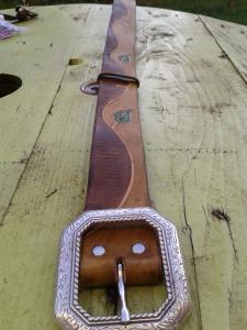 ceinture en cuir personnalisé